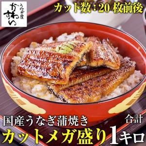 国産うなぎ蒲焼き大小カットメガ盛り1kgセット(うなぎ通販 鰻 国産 送料無料)
