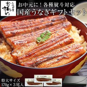国産特大うなぎ蒲焼き3本(うなぎ通販 鰻 ウナギ 国産 ギフト 目上 立派)