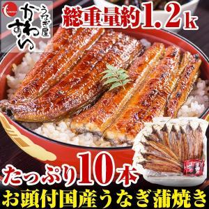 (限定90セット)国産有頭うなぎ蒲焼き10本セット(送料無料...