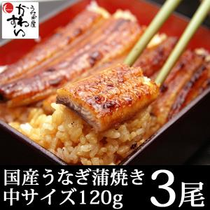 国産うなぎ蒲焼き 120g-149g×3本(送料無料 鰻 ギ...