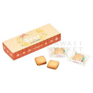 サンドクッキー 紙箱 スノースノー ディズニー・クリスマス2019 お菓子 ミッキー ミニー ディズ...