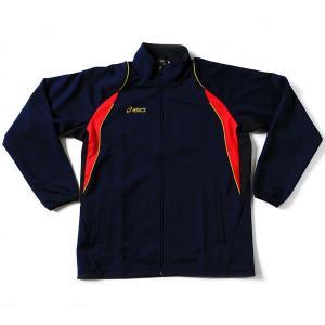 アシックス 野球 トレーニングウェア ジャージ ウォームアップシャツ 長袖 ゴールドステージ BAW007 ネイビー|kawaisports