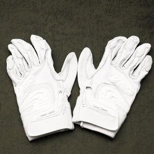 メール便送料無料 アシックス 野球 ゴールドステージ バッティング用手袋 BEG13S ホワイト 50%OFF|kawaisports