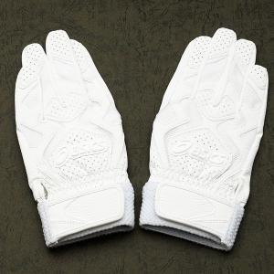 メール便送料無料 アシックス 野球 バッティング用手袋 BEG234 ホワイト|kawaisports