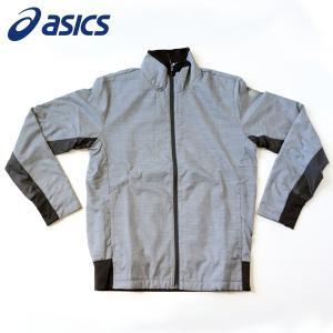 アシックス ランニング ウェア メンズ ウインドジャケット XAW539 ダークグレー杢|kawaisports