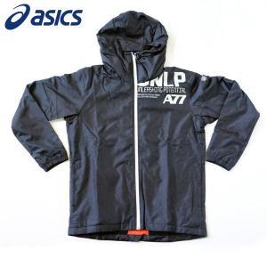 アシックス ランニング ウェア メンズ ウインドフーディー A77 XAW725 ブラック×バーチ|kawaisports
