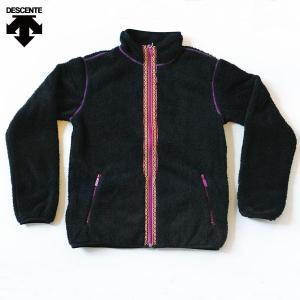 デサント ランニング ウェア レディス フリースジャケット DOR-C7239 ブラック|kawaisports