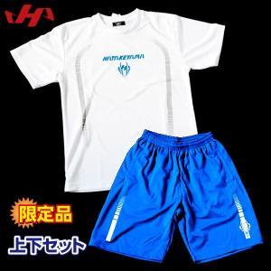 ハタケヤマ 野球 トレーニングウェア 限定品 プラシャツ 上下セット HF-ZP17 ホワイト|kawaisports