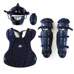 送料無料 ゼット 野球 BL300SET 軟式キャッチャー防具4点セット ネイビー|kawaisports