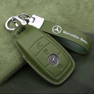 Benz メルセデスベンツ専用 スマートキーカバー スマートキーケース ABCEクラスなど 本革 パーツ アクセサリー キーホルダー 革製 高級仕上 傷防止 高品質|kawamura-store
