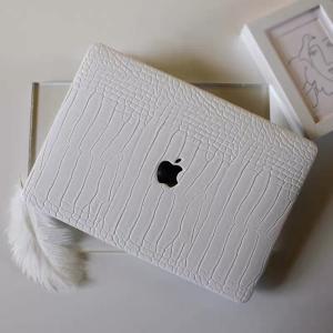ノートパソコンカバー macpro 13インチ 高級感 ホワイト レザー PU マックブックカバー ...