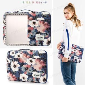 KINMAC 女子おしゃれ 人気な花柄ノートパソコンケース PCバッグ PCケース かわいいデザイン 防水持ち手付き|kawamura-store