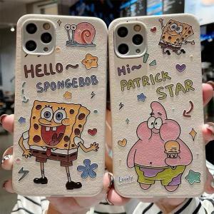 スマホケース iPhone12  iPhone11ケース 保護カバー 携帯ケース アイフォン iPhone12 mini スポンジ・ボブ かわいい キャラクターグッズ おしゃれ|kawamura-store