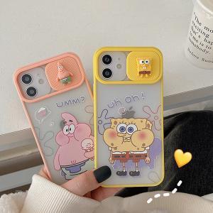 スマホケース iPhone12  iPhone11ケース 透明 保護カバー 携帯ケース アイフォン iPhone12 mini スポンジ・ボブ かわいい キャラクターグッズ おしゃれ|kawamura-store