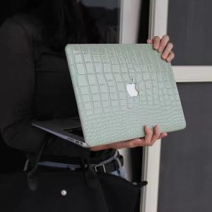 ノートパソコンカバー macpro 13インチ 16インチ 高級感 アボカドグリーン PU マックブ...