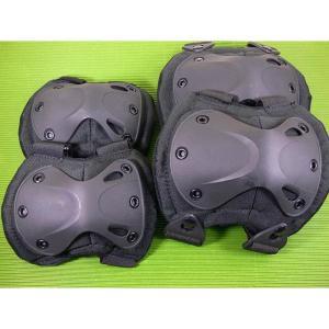 J-FORCE 肘膝パッド4点セット X-TACタイプ・プロテクター BK 4点x3セット/卸/|kawanetjigyoubu