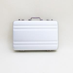 アルミトランク タバコ カードケース ダブルライン 日本製 シルバー A101002|kawanetjigyoubu