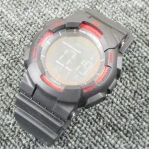 ALIAS 電波ソーラー デジタル 腕時計 DASH 反転液晶 10気圧防水 ウレタンベルト  ADWW15039RCSOL-3レッド kawanetjigyoubu