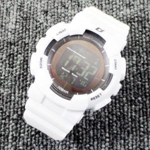 ALIAS 電波ソーラー デジタル 腕時計 DASH 反転液晶 10気圧防水 ウレタンベルト  ADWW15039RCSOL-5ホワイト kawanetjigyoubu