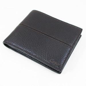 カルティエ 二つ折り財布 メンズ サドルステッチ L3001262 ダークブラウン 男性用 本革 カルチェ Cartier|kawanetjigyoubu