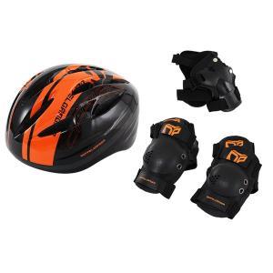 キッズヘルメットセット  ヘルメット・肘/膝/手首プロテクター4点セット ドッペルギャンガー DFP183-BK/送料無料 kawanetjigyoubu