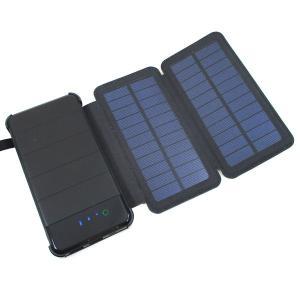 モバイルバッテリー 8000mAh ハイパワー ソーラーパネル LEDライト付き HIDISC MBSCF8000FTBK 1170 PSEマーク有/送料無料|kawanetjigyoubu
