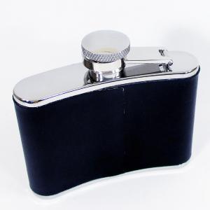 フラスコ スキットルボトル ステンレス製 フタ一体型 レザー 4オンス 約120ml 約115g/送料無料|kawanetjigyoubu
