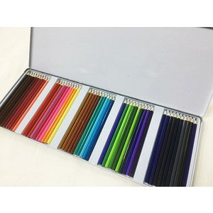 缶ケース入り 色鉛筆50色セットx3個セット/卸//カワネット
