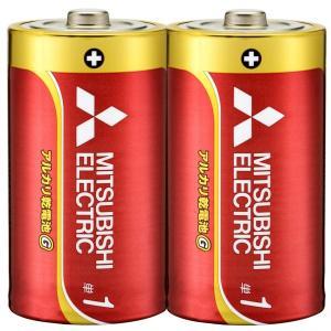 単1アルカリ乾電池 単一乾電池 三菱 2本組x1パック/送料無料|kawanetjigyoubu