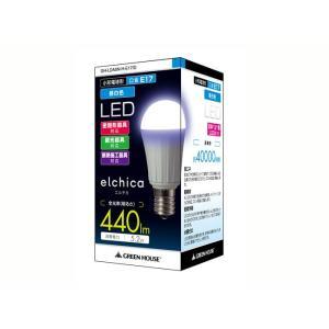 グリーンハウス LED電球 エルチカ 40Wクラス 昼白色「E17口金」 GH-LDA5N-H-E17/D|kawanetjigyoubu