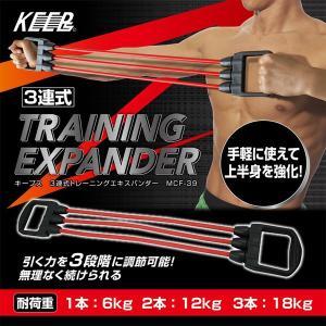 エキスパンダー 3連式 上半身を強化トレーニング MCF-39/送料無料 kawanetjigyoubu
