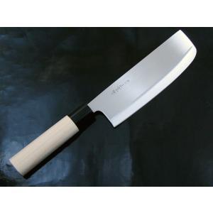 関の包丁 濃州正宗作 とげる 菜切 白木和包丁 170mm kawanetjigyoubu