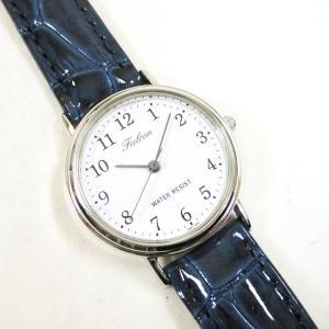 シチズン ファルコン 腕時計 日本製ムーブメント 革ベルト ホワイト/ネイビー Q997-324 レディース 婦人/送料無料メール便 ポイント消化 kawanetjigyoubu