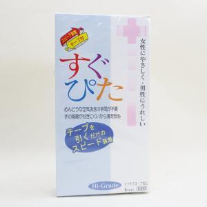 コンドーム すぐぴた テープを引くだけのスピード装着 ウェットゼリー付 ジャパンメディカルx3箱/卸