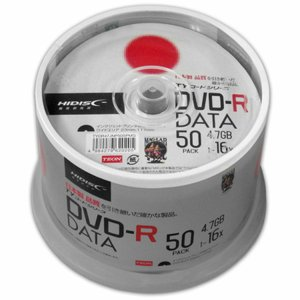 DVD-R データ用 4.7GB スピンドル 50枚 TYDR47JNP50SP/送料無料|kawanetjigyoubu