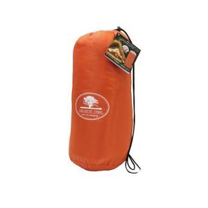 シュラフ(寝袋)万能1人用 快適寝袋 オレンジ MCO-58OR キャンプや災害時に!x1個 4498|kawanetjigyoubu