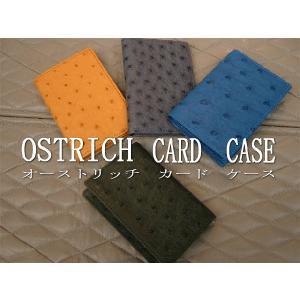 オーストリッチ 名刺入れ メンズ オーストリッチ カードケース 1505