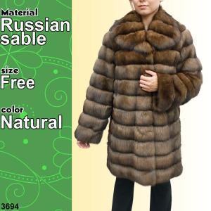 毛皮ジャケット ロシアンセーブル ショート丈 ファージャケット 3694
