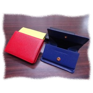 5451 牛革コインケース カードサイズ ボックス型 小銭入れ|kawasyo-yanaka