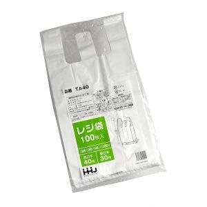 レジ袋(マチ付) 白 40号(縦50×横26cm) 100枚入|kawauchi