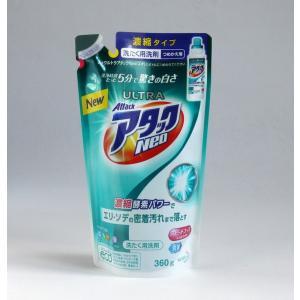 洗濯用洗剤(液体) 濃縮タイプ ウルトラアタックNeo つめかえ用 360g|kawauchi