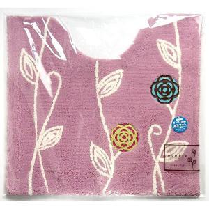 トイレマット 57×62cm ピンク 洗えるの写真