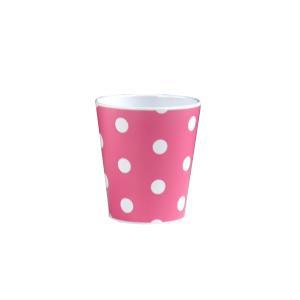 コップ ドット柄 ピンク 180ml メラミン製 kawauchi