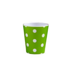 コップ ドット柄 グリーン 180ml メラミン製 kawauchi