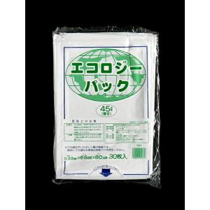 ゴミ袋 45L 厚さ0.03mm 白色 30枚入|kawauchi