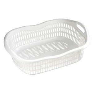 洗濯かご 50×37×高さ17cm ホワイト|kawauchi