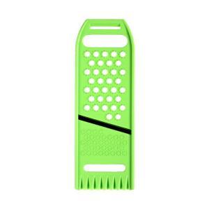 ○5つの機能が付いたスライサーです。  大根・きゅうりなどの皮むきや、大根・山芋・ニンジンのおろし、...