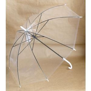 ビニール傘 透明 48cmの詳細画像2