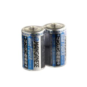 電池 マンガン乾電池 単1形 2本入