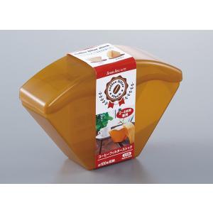 コーヒーフィルターストック 2〜4杯用専用 100枚収納 クリアブラウン